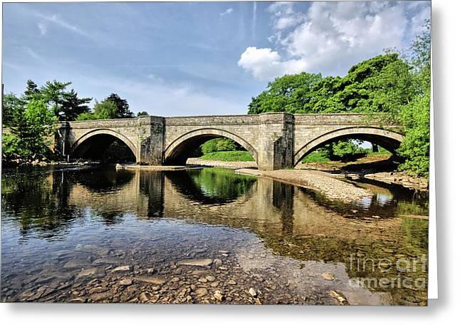 Bridge At Grinton Greeting Card by Nichola Denny