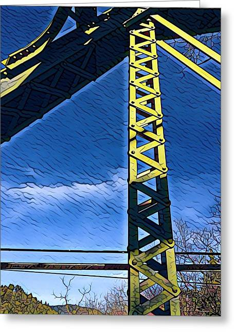 Bridge At Guerneville Greeting Card