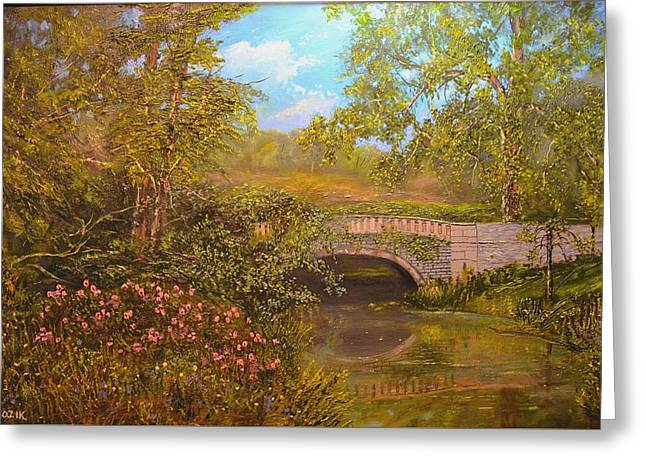 Bridge At Minterne Greeting Card
