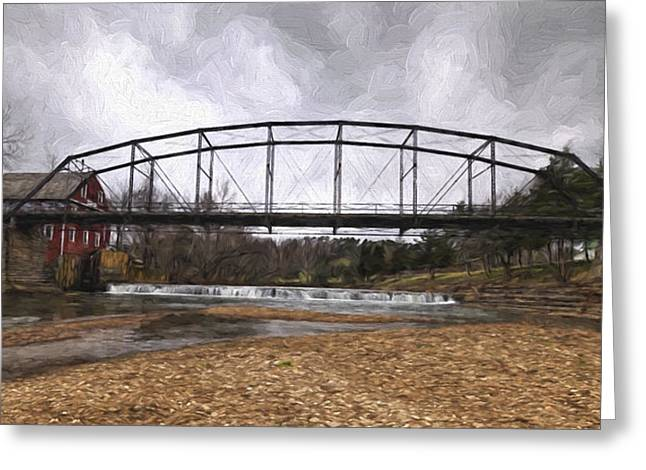 Bridge At The Mill Greeting Card