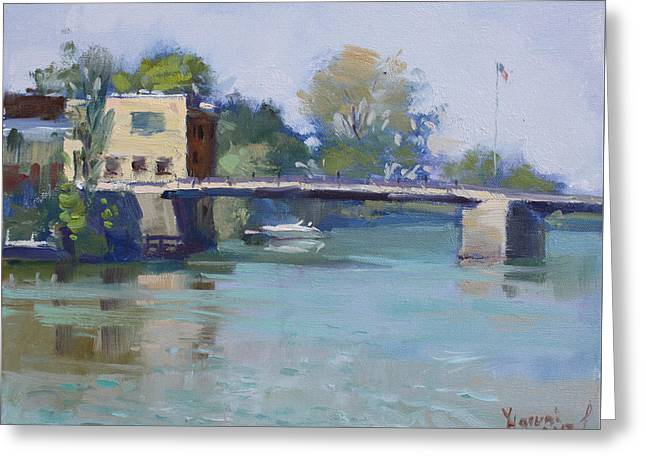 Bridge At Tonawanda Canal Greeting Card