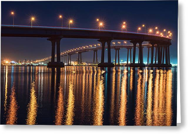 Greeting Card featuring the photograph Bridge Bedazzled by Dan McGeorge