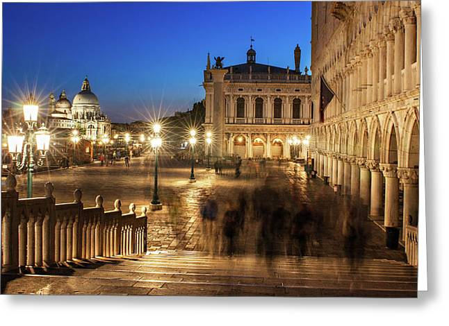 Bridge By The Ducal Palace - Venice Greeting Card
