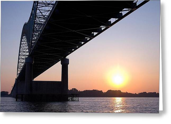 Bridge Over Mississippi River Greeting Card