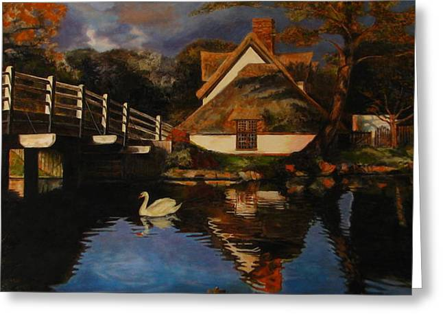 Bridge Cottage Greeting Card