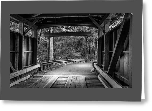 Bridge Exit Greeting Card by Marvin Spates