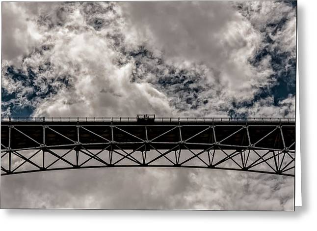 Bridge From Below Greeting Card