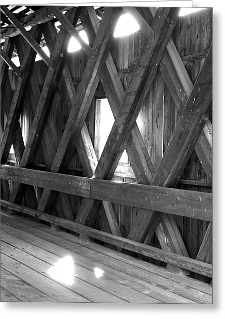 Greeting Card featuring the photograph Bridge Glow by Greg Fortier