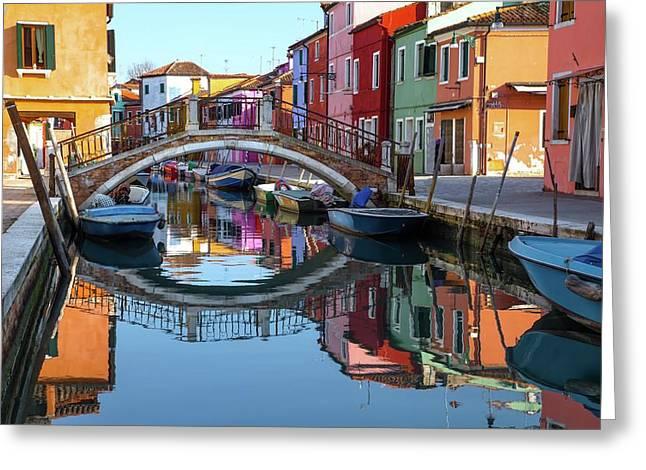 Bridge In Burano  Greeting Card