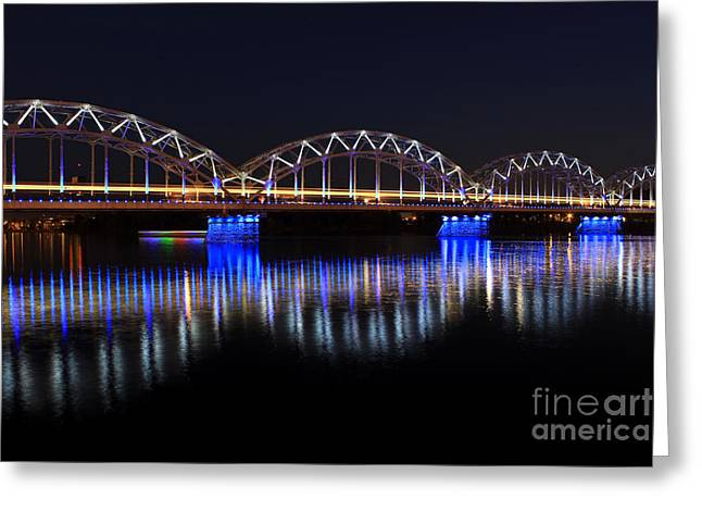 Bridge In Riga  Greeting Card