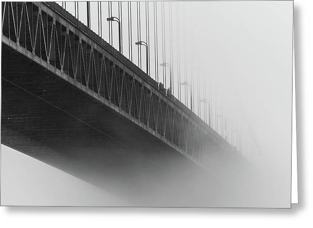 Greeting Card featuring the photograph Bridge In The Fog by Stephen Holst