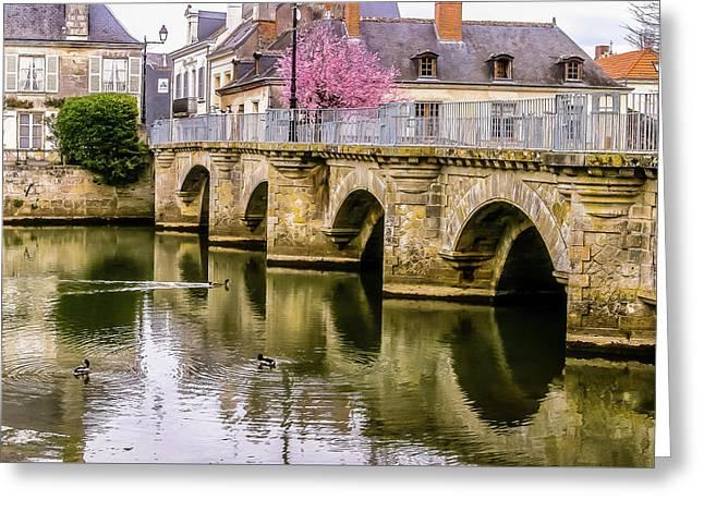 Bridge In The Loir Valley, France Greeting Card