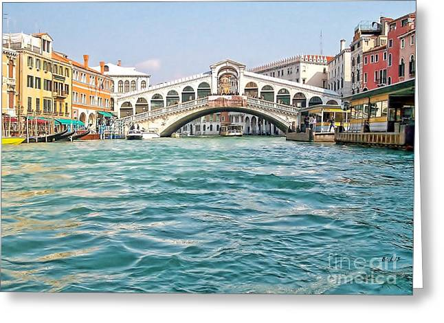 Greeting Card featuring the photograph Bridge In Venice by Roberta Byram