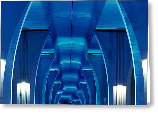 Bridge Miami Fl Greeting Card by Panoramic Images