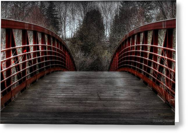 Greeting Card featuring the photograph Bridge by Michaela Preston