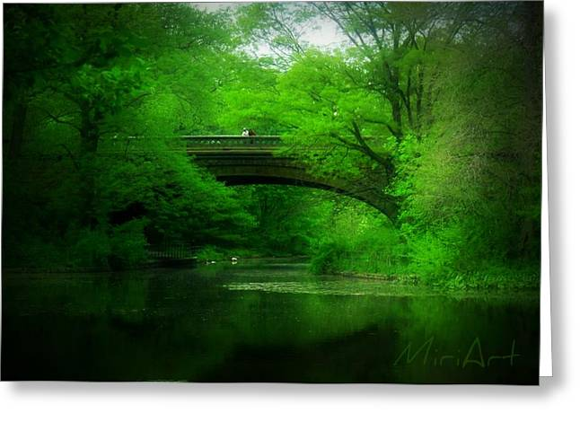 Bridge Greeting Card by Miriam Shaw