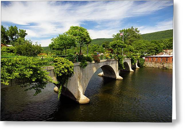 Bridge Of Flowers Shelburne Falls, Ma Greeting Card