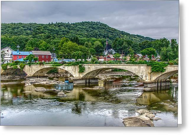 Bridge Of Flowers, Shelburne Falls Ma Greeting Card
