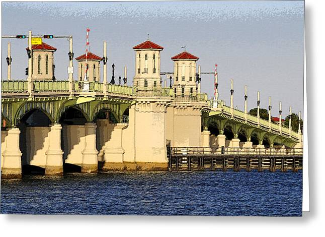 Matanzas Greeting Cards - Bridge of Lions Greeting Card by David Lee Thompson