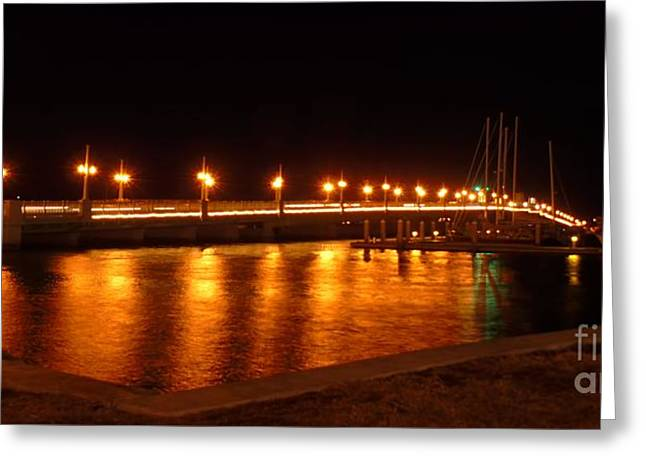 Bridge Of Lions Night Of Lights Greeting Card