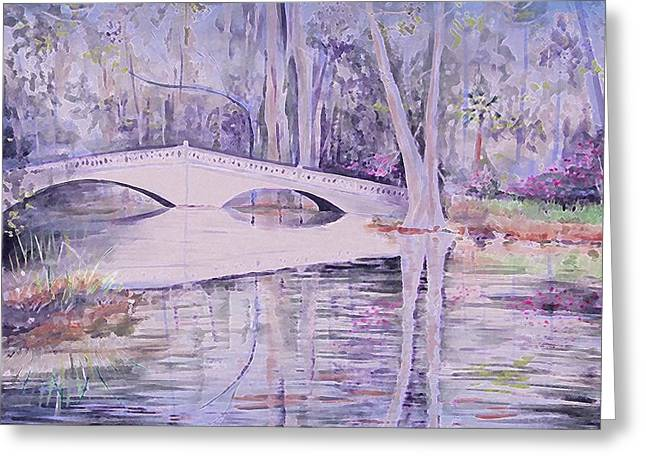 Bridge Of Magnolia Gardens Greeting Card