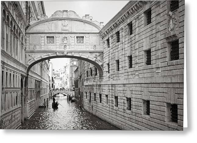 Bridge Of Sighs 5346-2 Greeting Card by Marco Missiaja