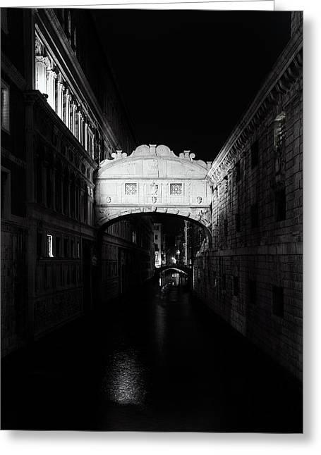 Bridge Of Sighs At Night Greeting Card