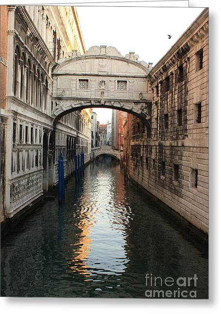 Bridge Of Sighs In Venice In Morning Light Greeting Card by Michael Henderson