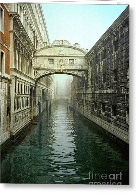 Bridge Of Sighs In Venice Greeting Card by Michael Henderson
