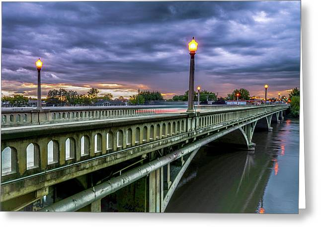 Prosser Washington Bridge Greeting Card