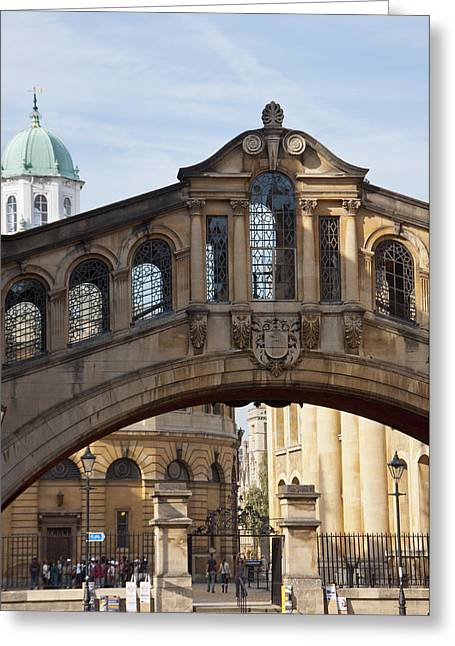 Outdoor Theater Greeting Cards - Bridge of Sighs Oxford Greeting Card by Andrew  Michael