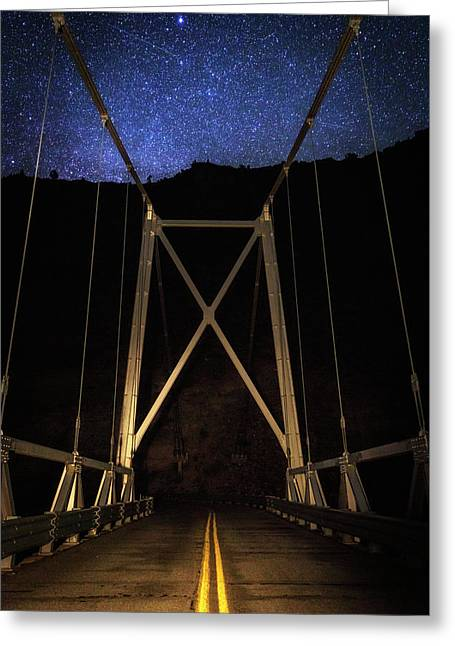 Greeting Card featuring the photograph Bridge Of Stars by Cat Connor