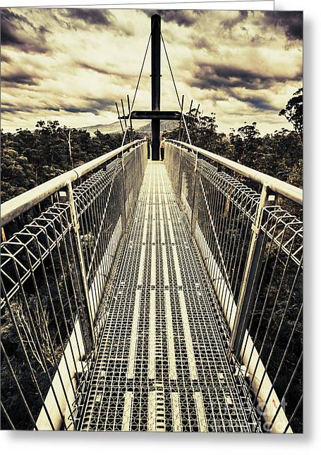Bridge Of Suspension  Greeting Card