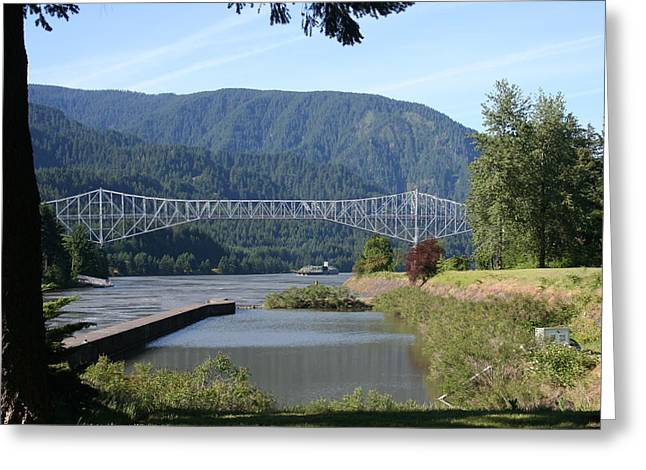Bridge Of The Gods Br-4002 Greeting Card by Mary Gaines