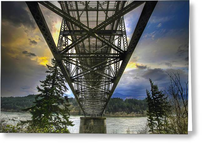 Bridge Of The Gods Greeting Card