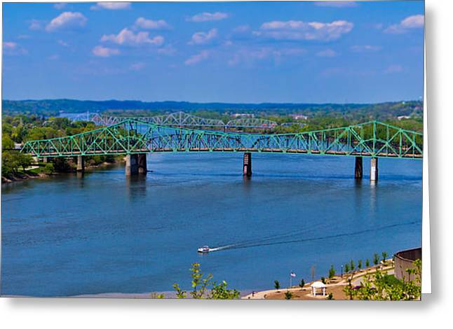 Bridge On The Ohio River Greeting Card by Jonny D
