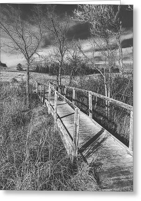 Bridge On The Prairie Greeting Card