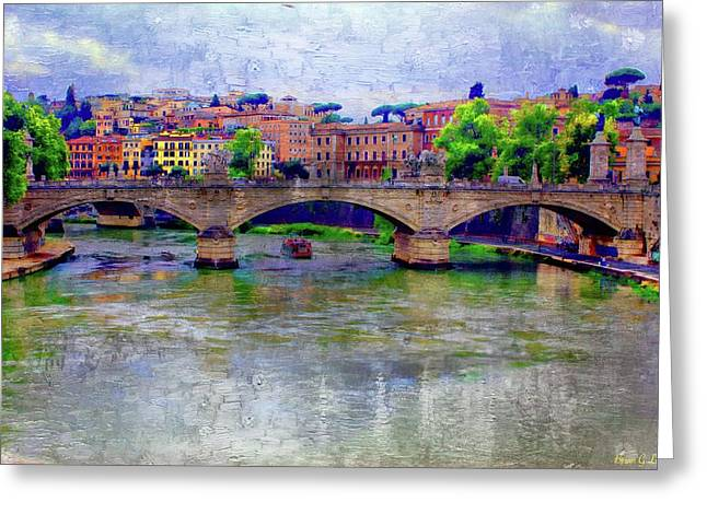 Bridge Over The Tiber River Greeting Card by Brian Lukas