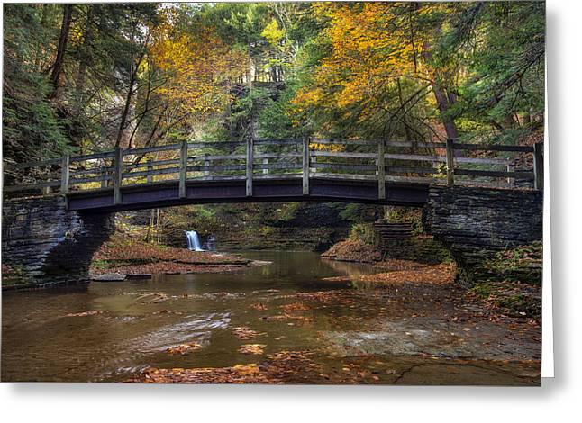 Bridge Over Buttermilk Creek Greeting Card by Mark Papke