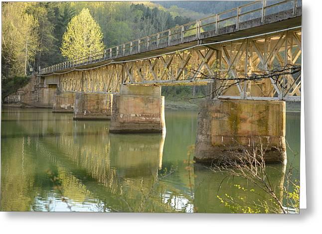 Bridge Over Calm Water Greeting Card