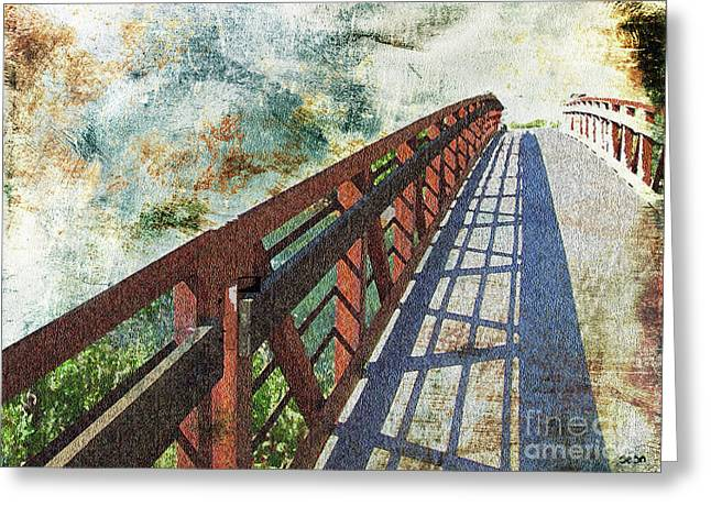 Bridge Over Clouds Greeting Card