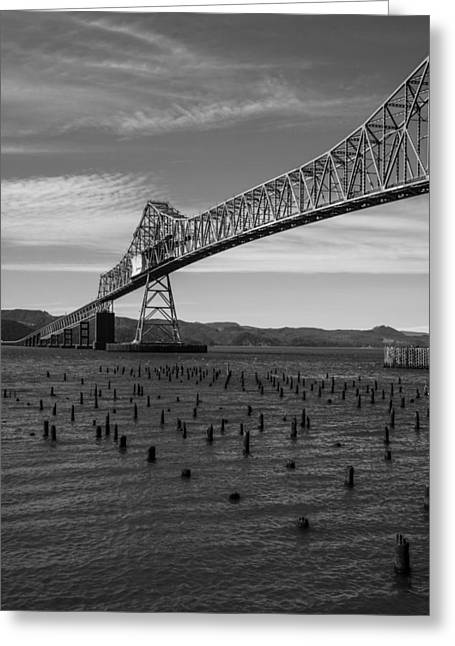 Greeting Card featuring the photograph Bridge Over Columbia by Jeff Kolker