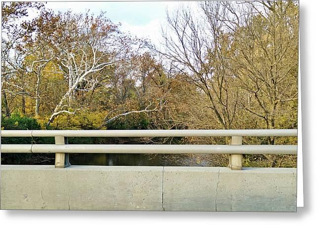 Bridge Over Fall Greeting Card by Robert Knight