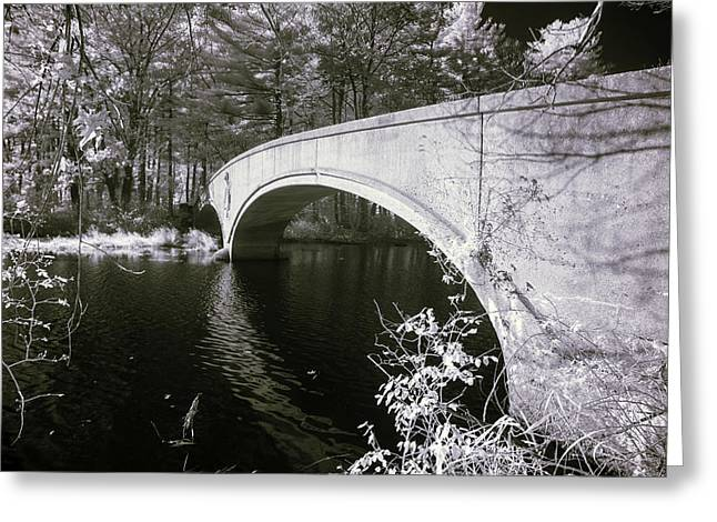 Greeting Card featuring the photograph Bridge Over Infrared Waters by Brian Hale