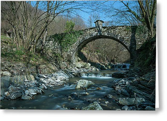Bridge Over Peaceful Waters - Il Ponte Sul Ciae' Greeting Card