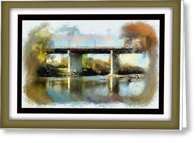 Bridge Over Shenandoah Greeting Card by Teresa Henry