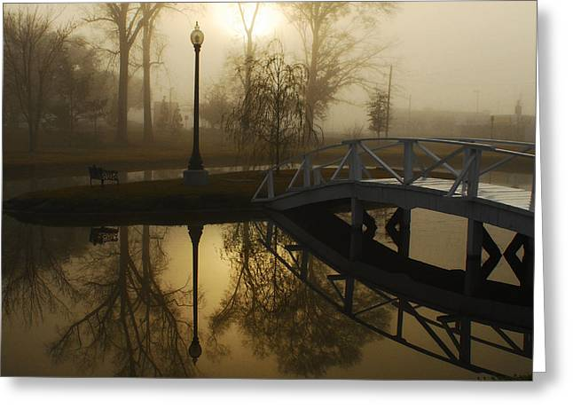 Bridge Over Still Waters Greeting Card