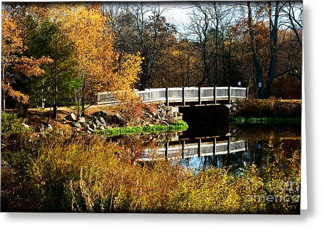 Bridge Over The Blackstone Canal Greeting Card