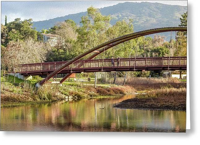 Bridge Over The Creek Greeting Card