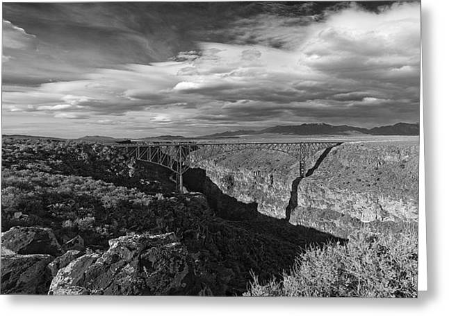 Bridge Over The Rio Grande Greeting Card by Gary Cloud